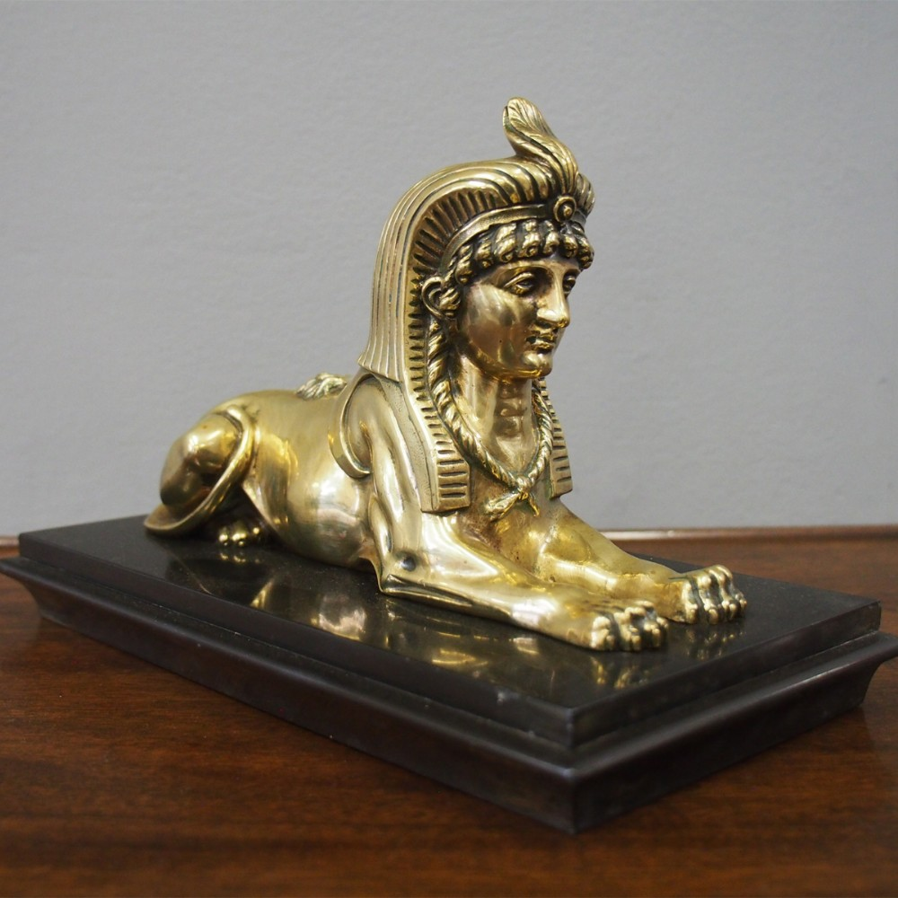 brass model of a sphinx