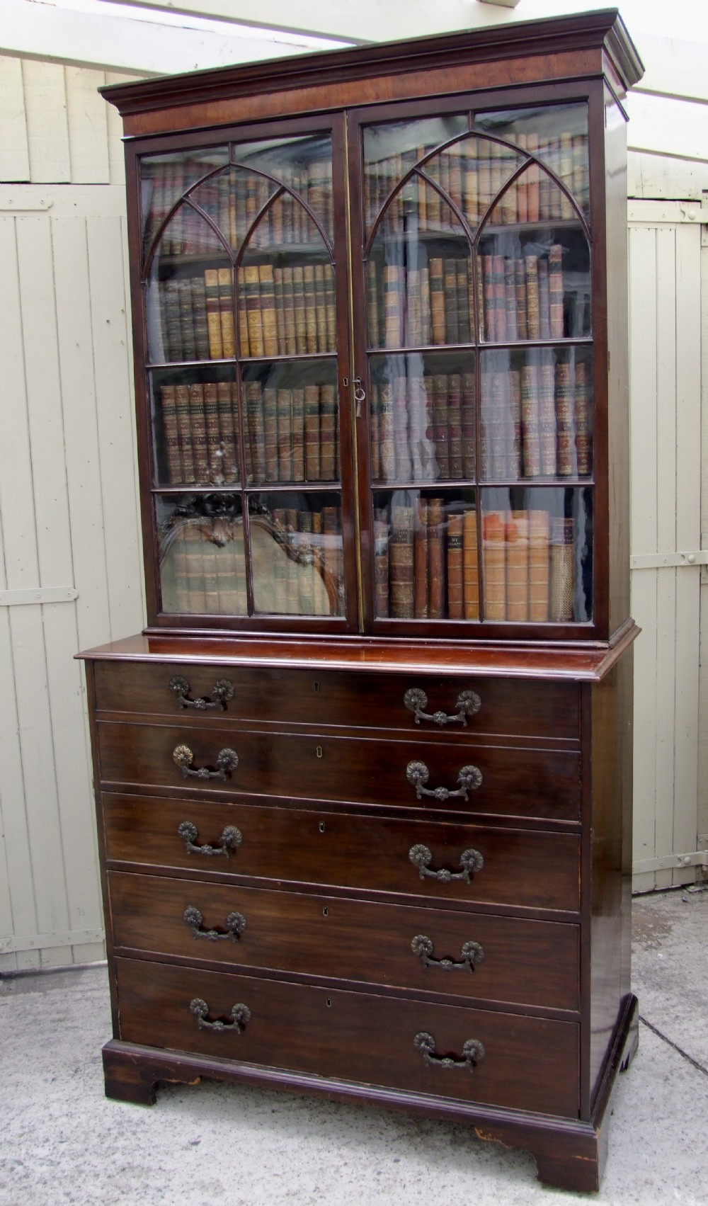 early 19th century sectetaire bookcase in mahogany