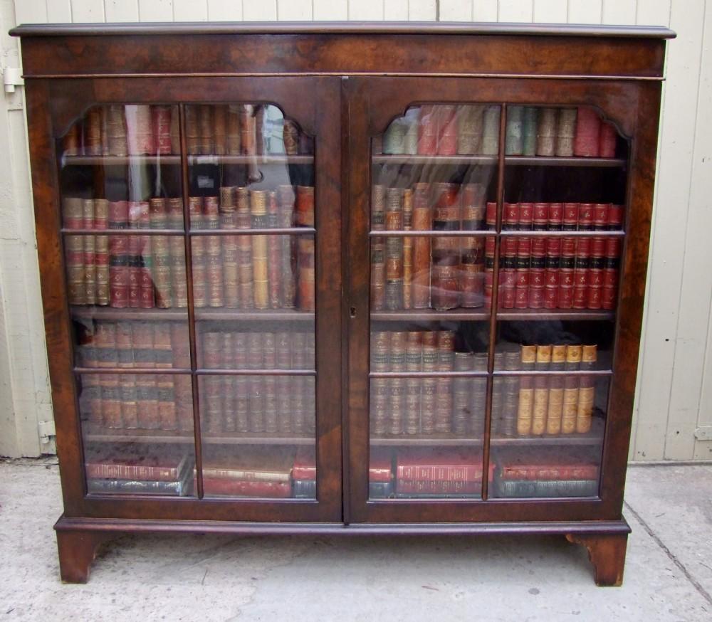 mahogany bookcase with glazed doors