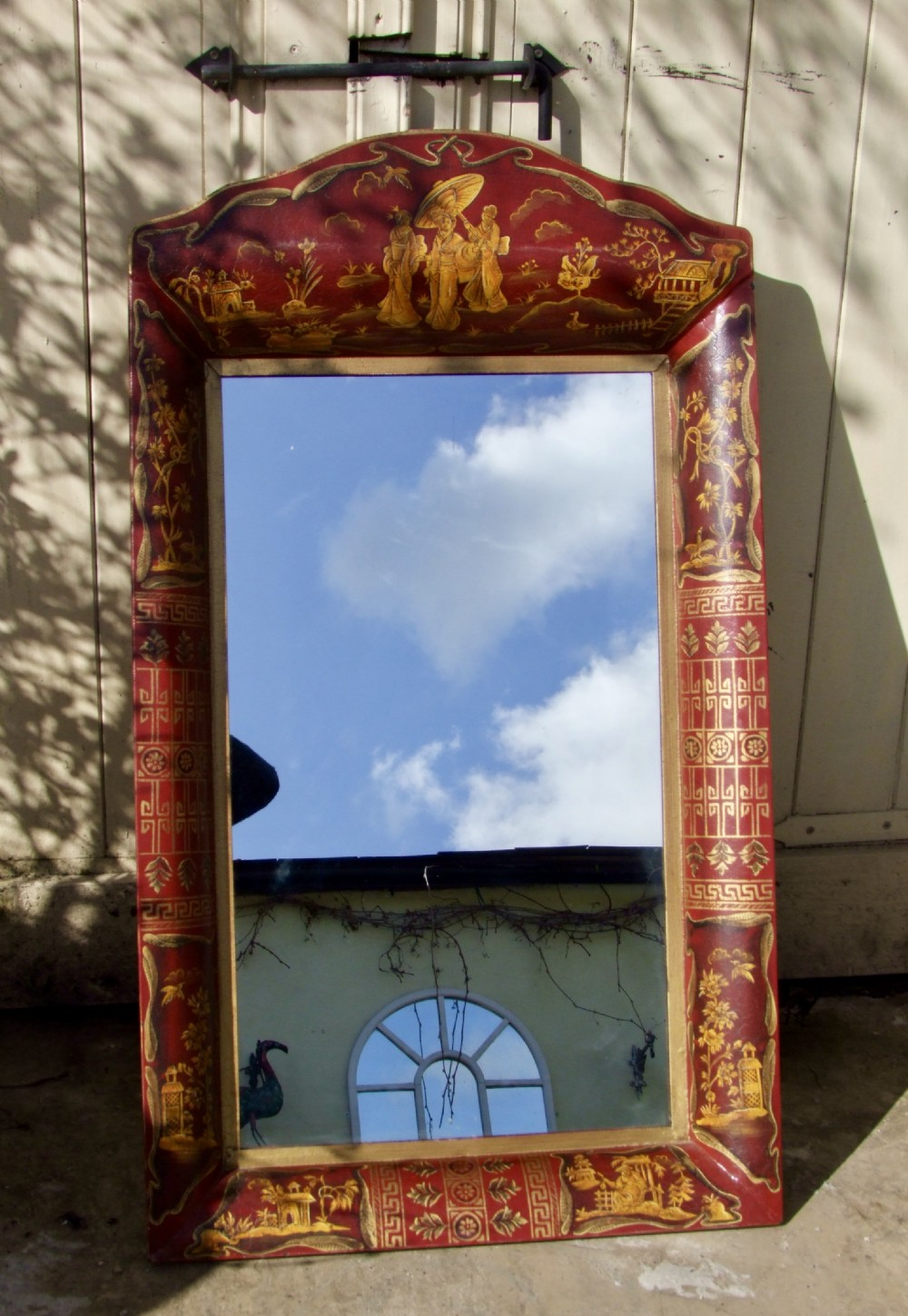 very attractive toleware chinoiserie mirror