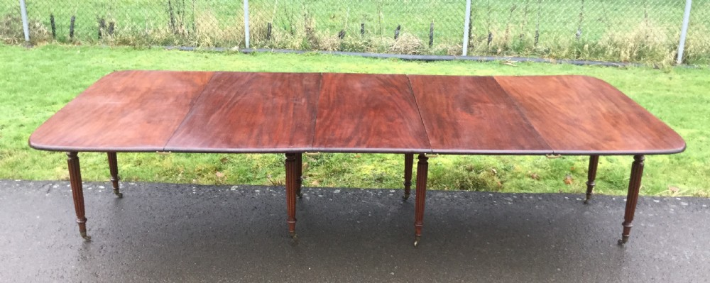 regency mahogany extending dining table to seat twelve