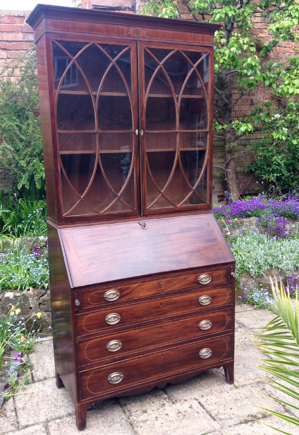 superb mahogany bureau bookcase