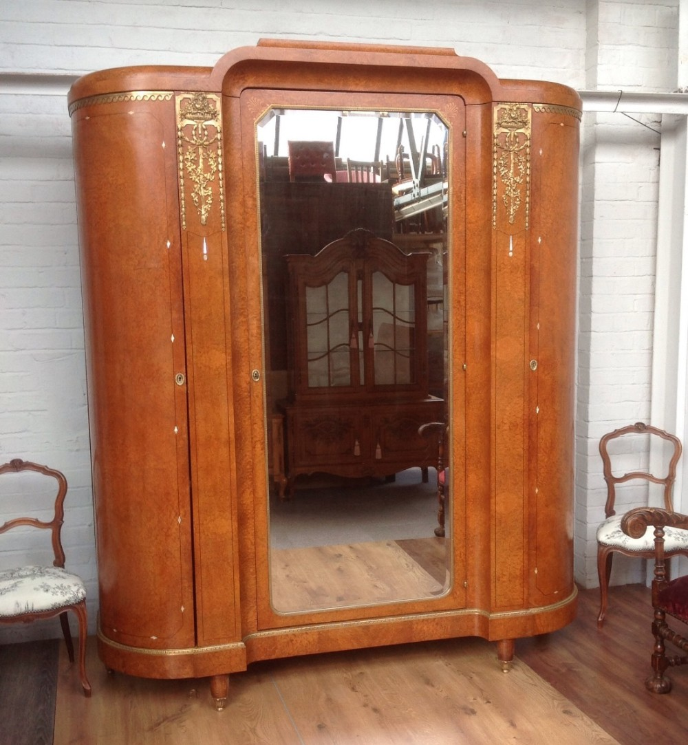 large art deco french armoire 475757. Black Bedroom Furniture Sets. Home Design Ideas