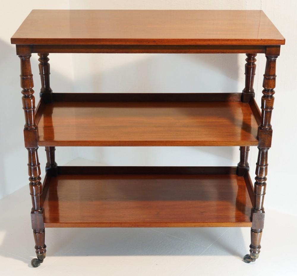 mahogany three tier shelves