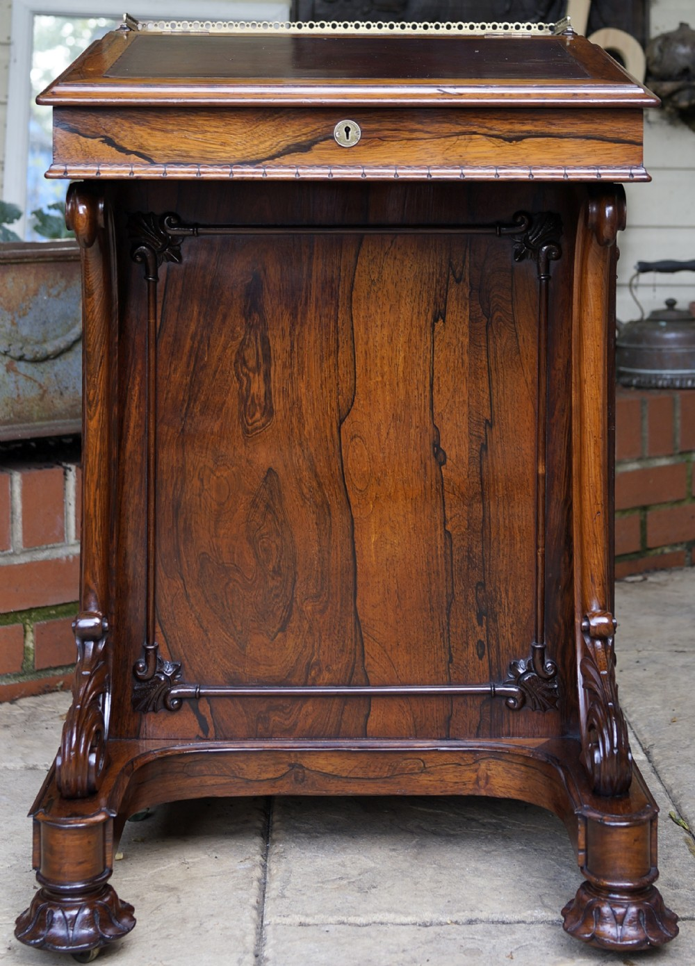 extremely fine quality beautiful and very useful rosewood davenport 1850s