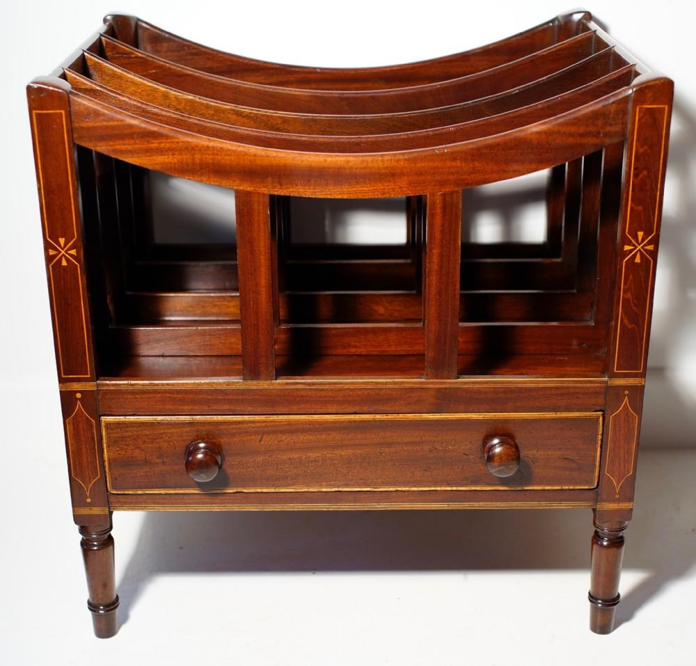 mahogany canterbury unusually inlaid on all sides retaining original revived finish