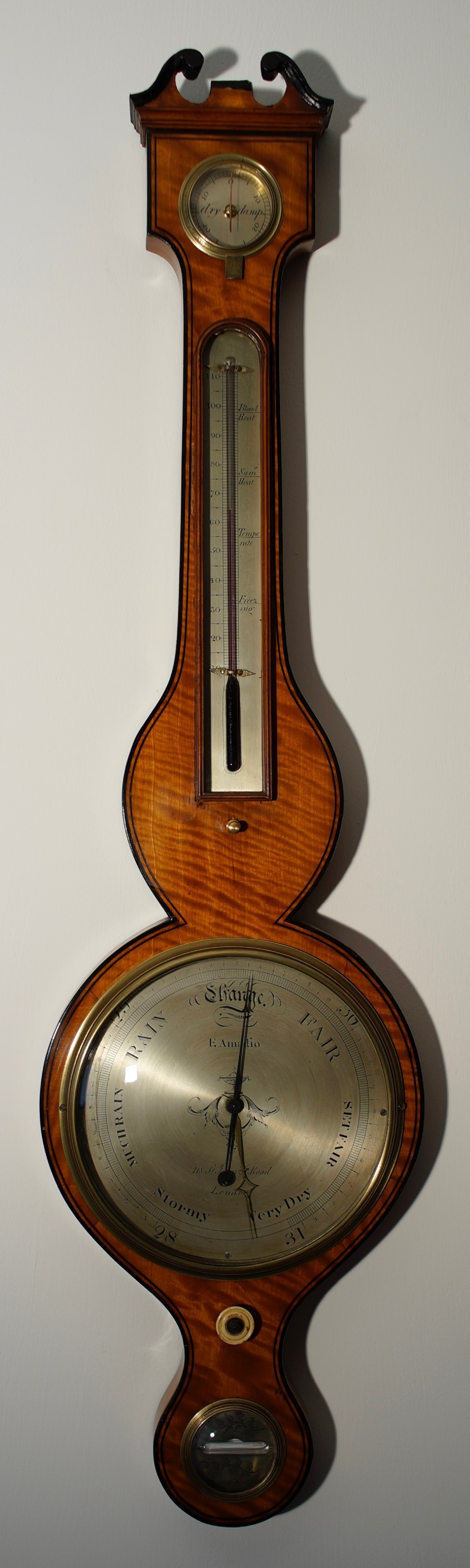 satinwood barometer