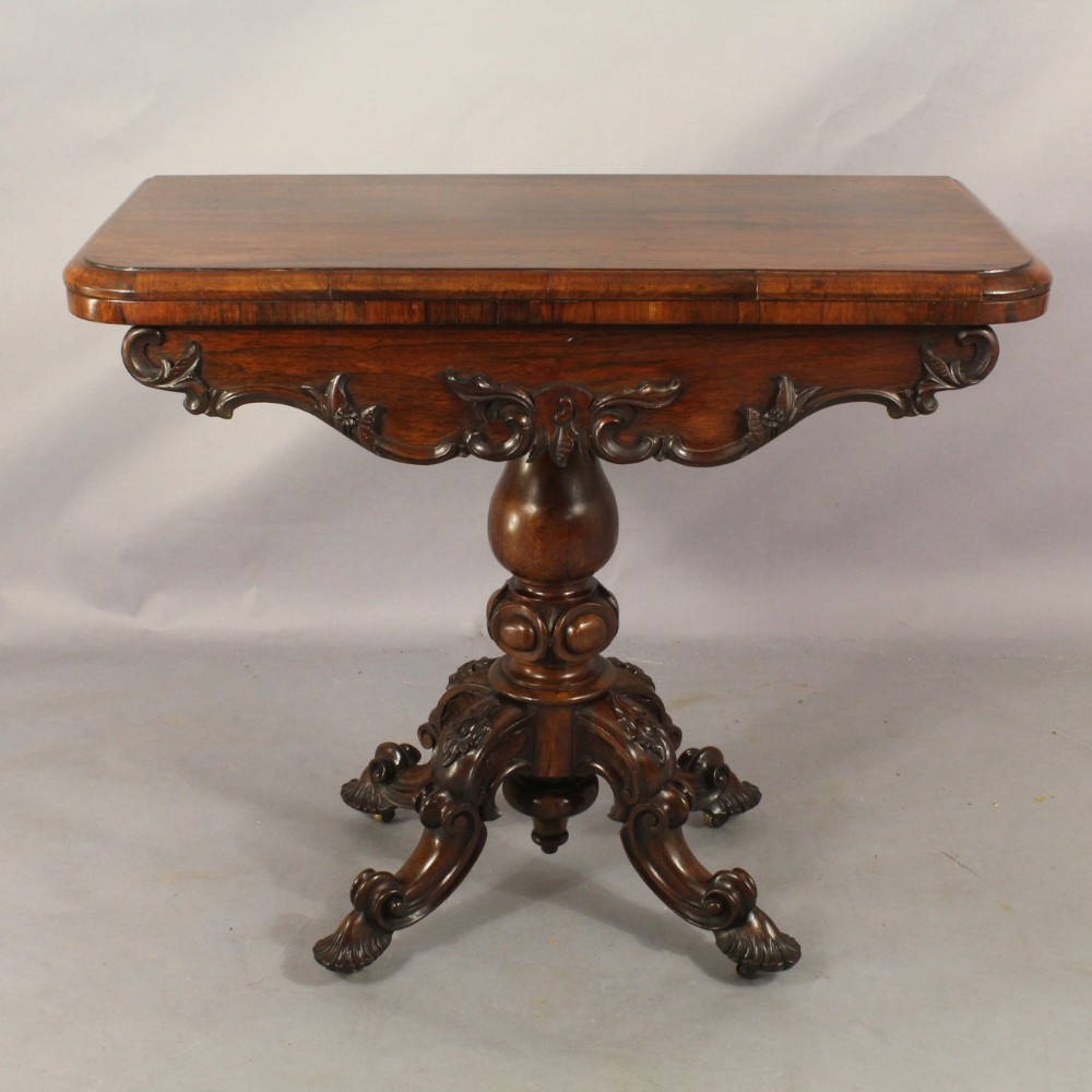 early nineteenth century rosewood card table