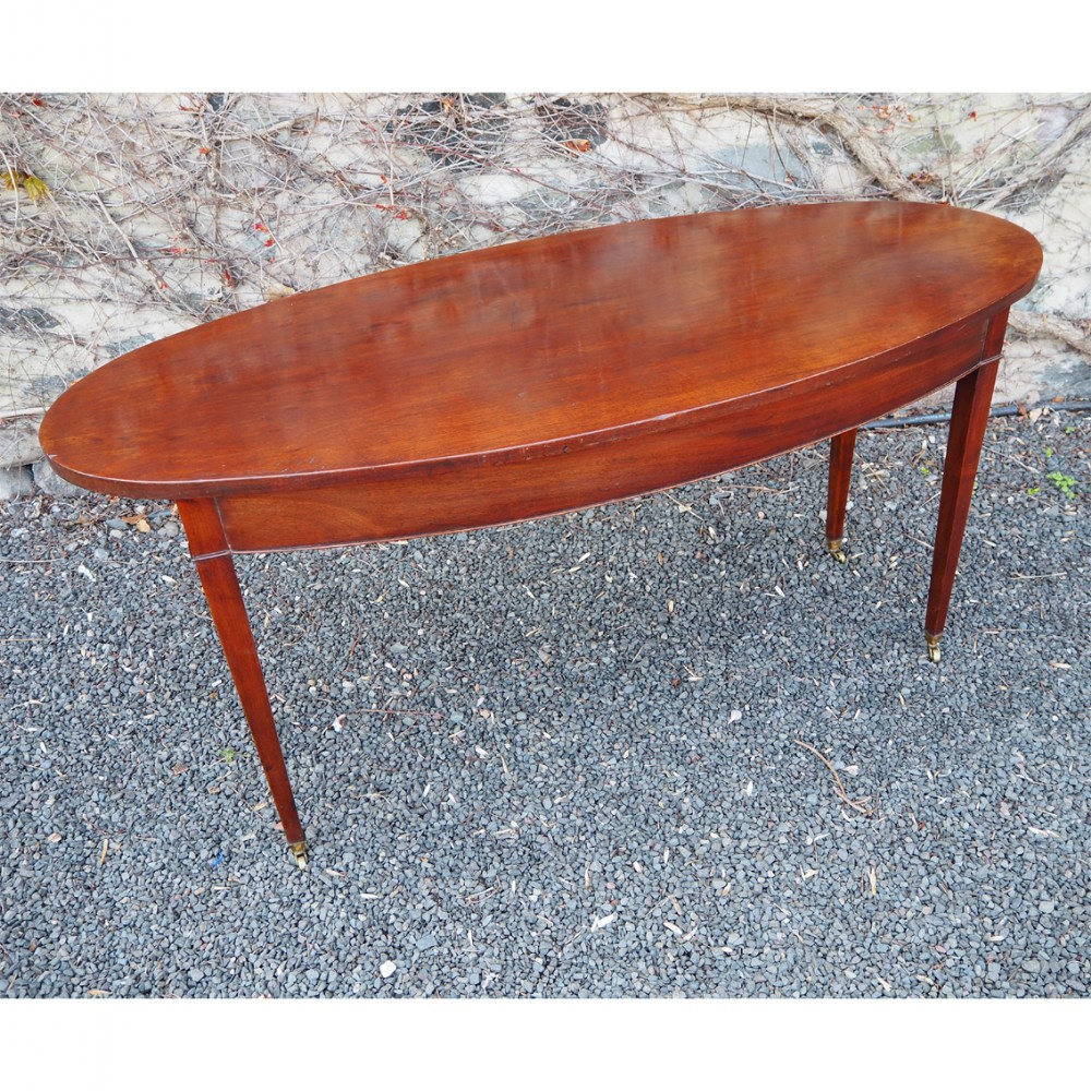 unusual large 18th century oval centre table