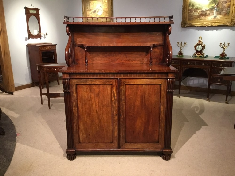 a regency period mahogany antique chiffonier possibly by gillows of lancaster