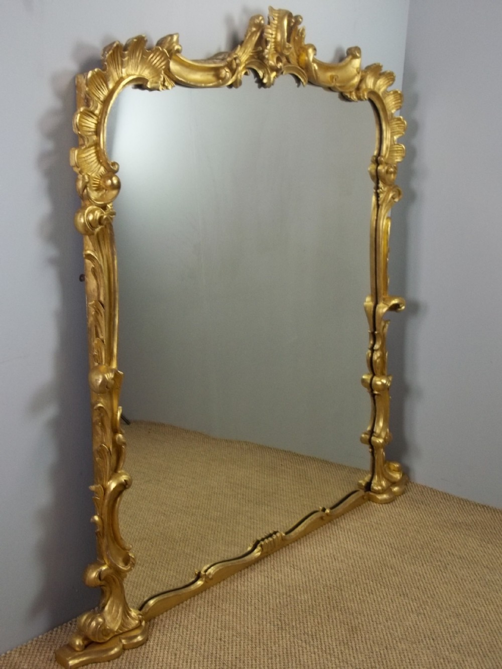 a stunning large regency antique solid carved gilt wood overmantel overmantle wall pier console gilded mirror c1830