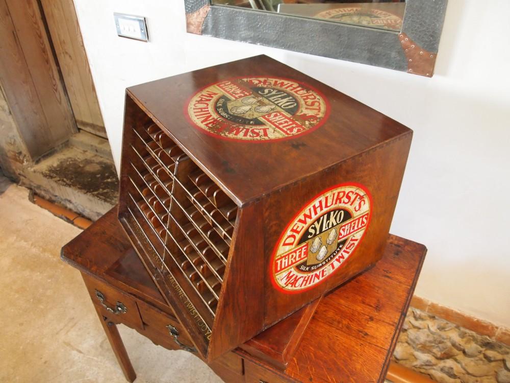 Haberdashery Cabinet Dewhurst Sylko Revolving Cotton Reel Shop Display C1920