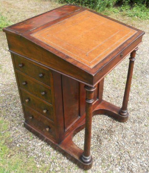 regency mahogany davenport desk