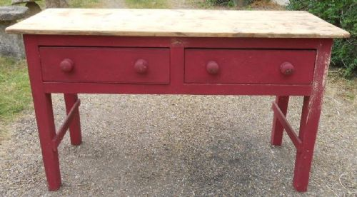 victorian pine serving table