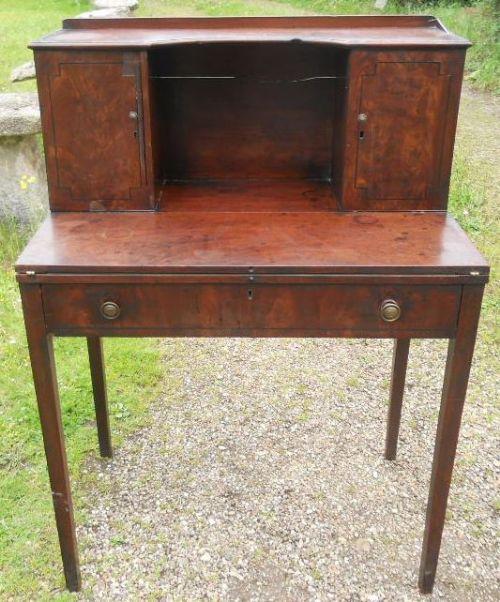 georgian small mahogany writing desk