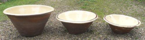 victorian set of three dairy bowls