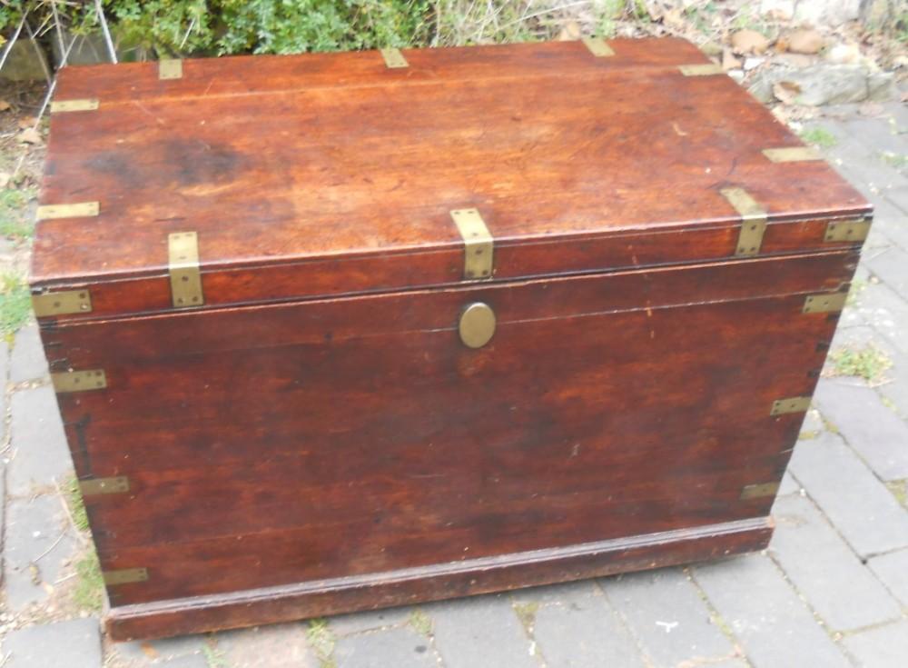 mahogany military blanket box