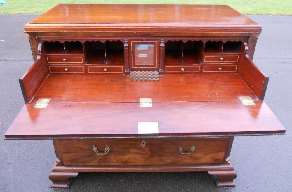 georgian mahogany secretaire chest of drawers