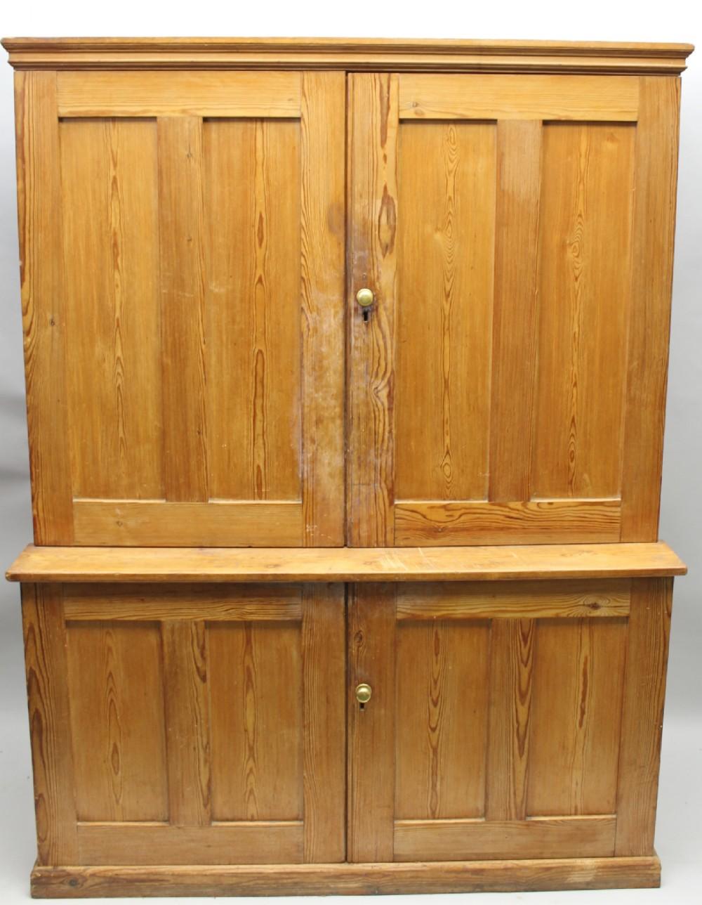 victorian pine kitchen housekeeper's cupboard
