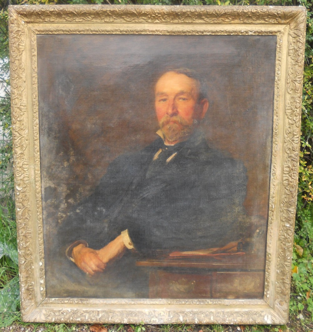 oil painting portrait of a gentleman by john seymour lucas ra 18491923