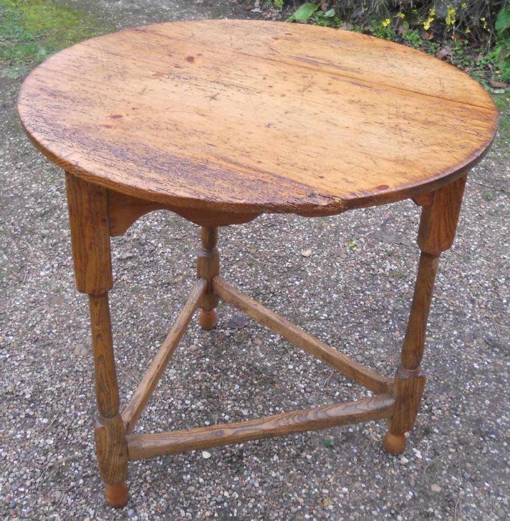 antique oak pine cricket table