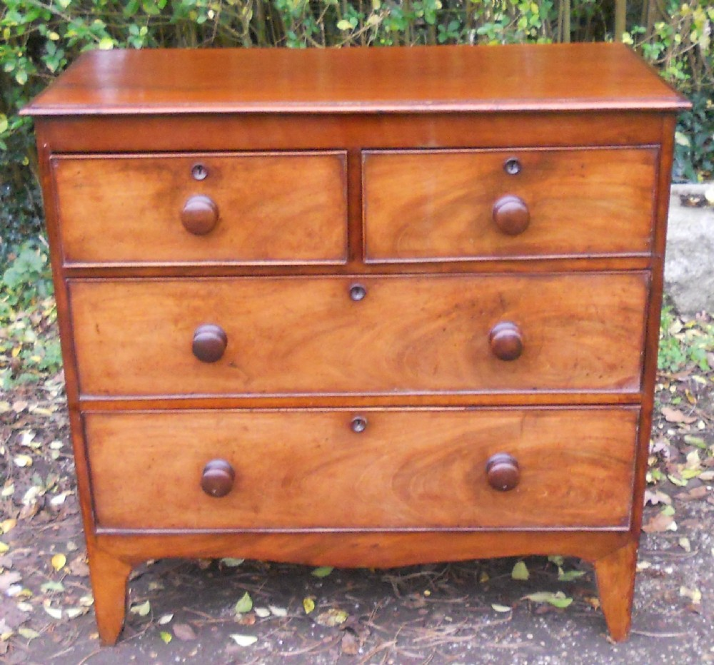 georgian small mahogany chest of drawers