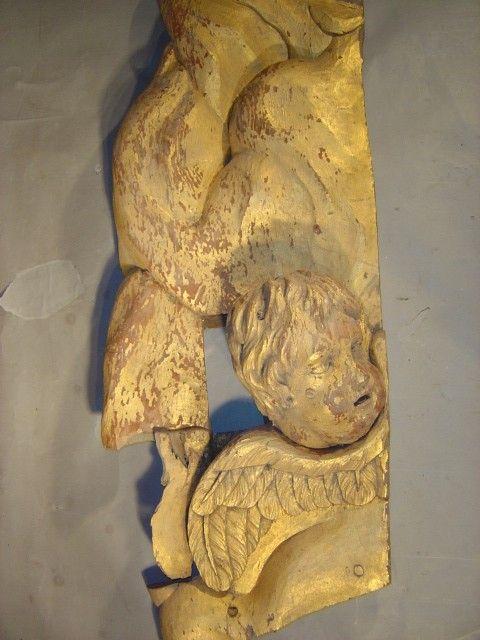rare 17th century italian gilded carved angel