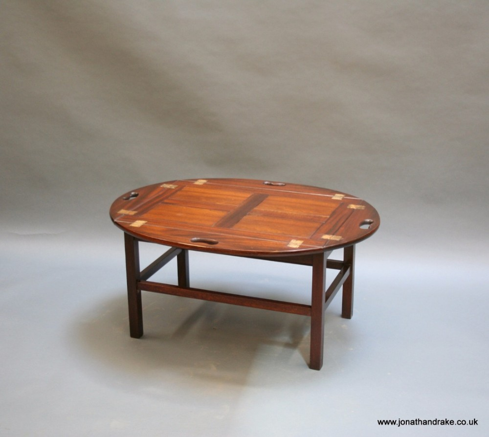 Georgian Revival Butlers Tray Coffee Table 478682