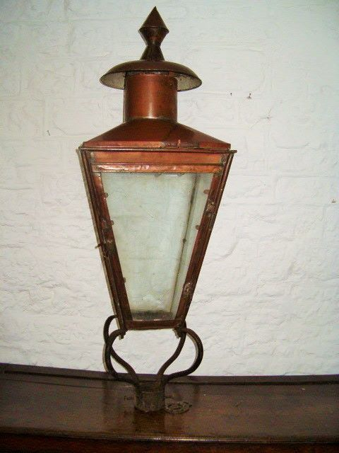 victorian copper street lamp
