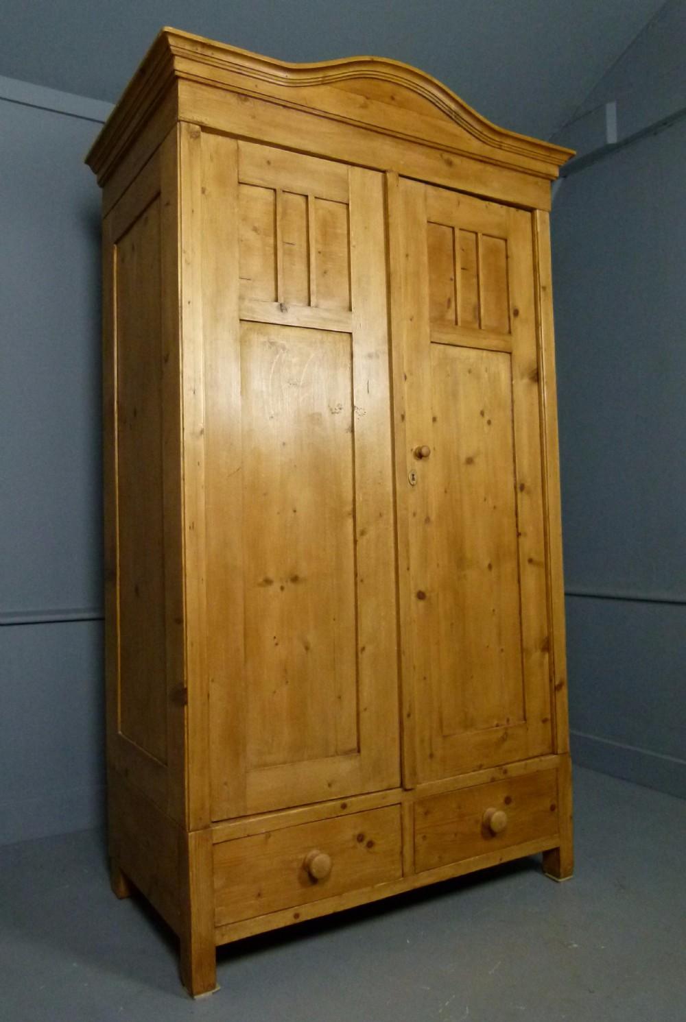 edwardian french pine armoire wardrobe knockdown. Black Bedroom Furniture Sets. Home Design Ideas