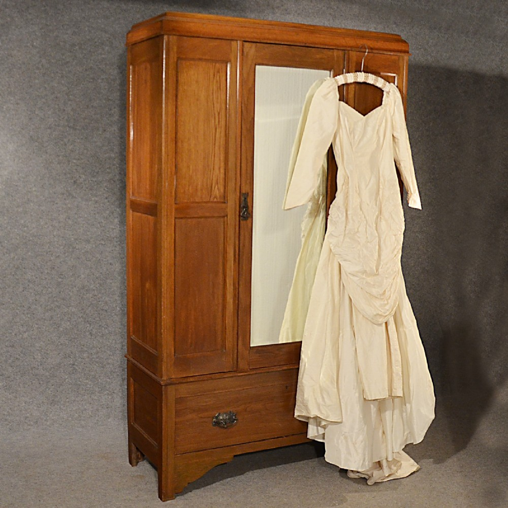 antique wardrobe with mirror Antique Wardrobe Oak English Edwardian Mirror Door Ray & Miles  antique wardrobe with mirror