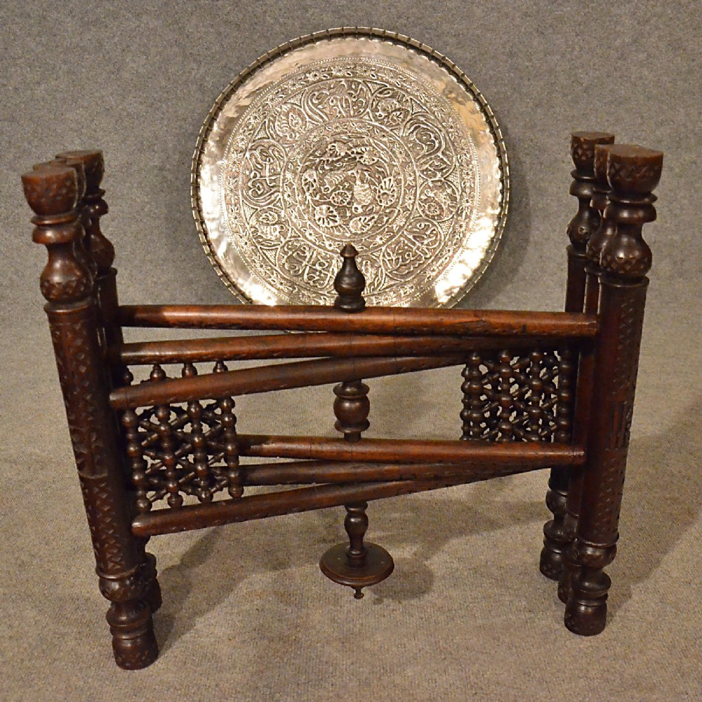 The antique coffee tea table berber benares tray lamp oriental folding - Page Load Time 1 06 Seconds