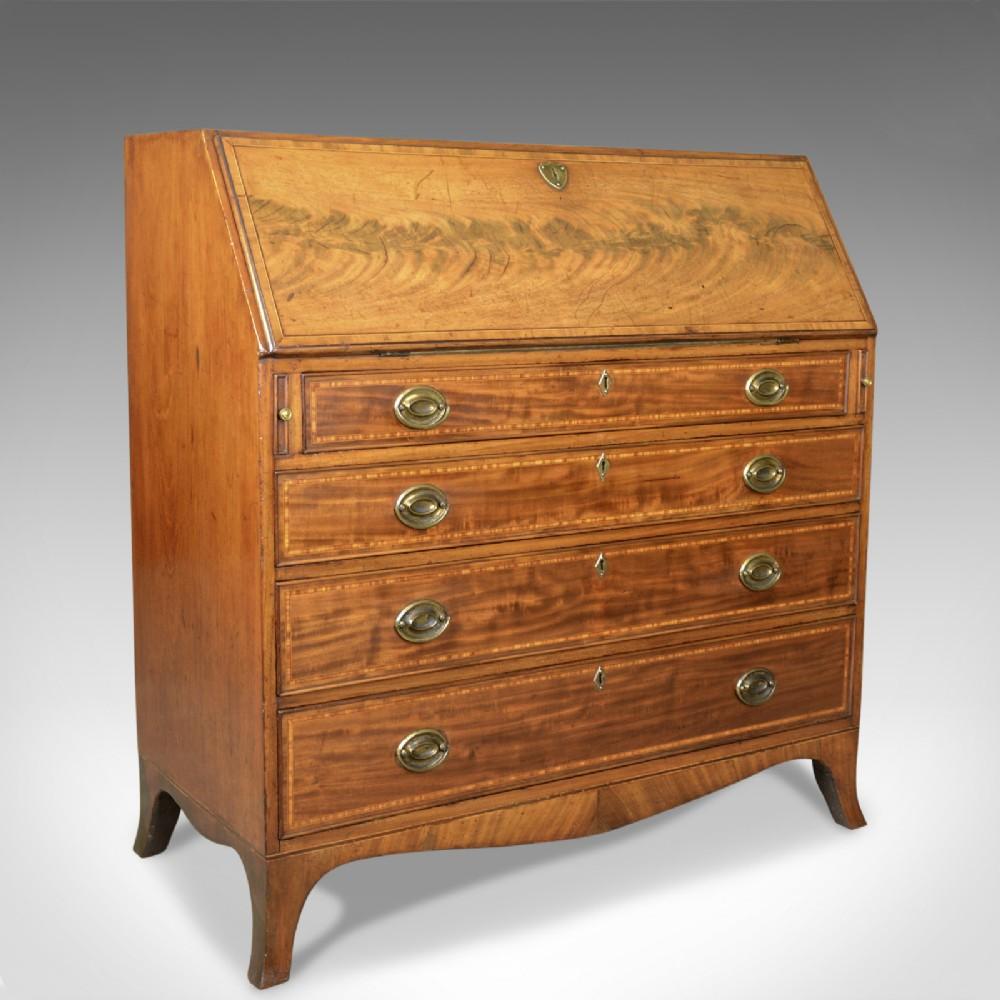 antique bureau mahogany english georgian 18th century circa 1770