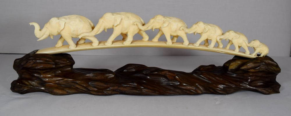 Sale carvings elephant ivory for Canadian Ivory