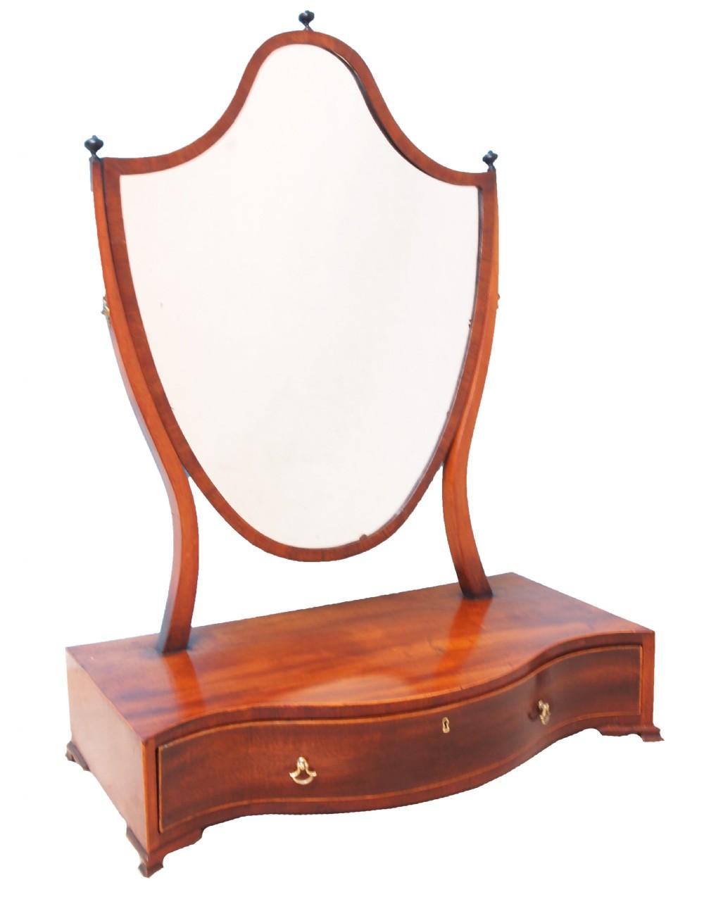 antique georgian large dressing table mirror
