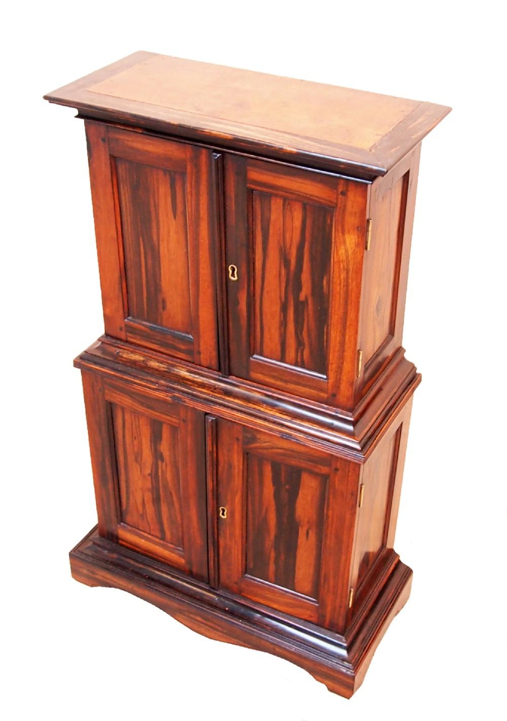 antique regency anglo indian childs coromandel cupboard