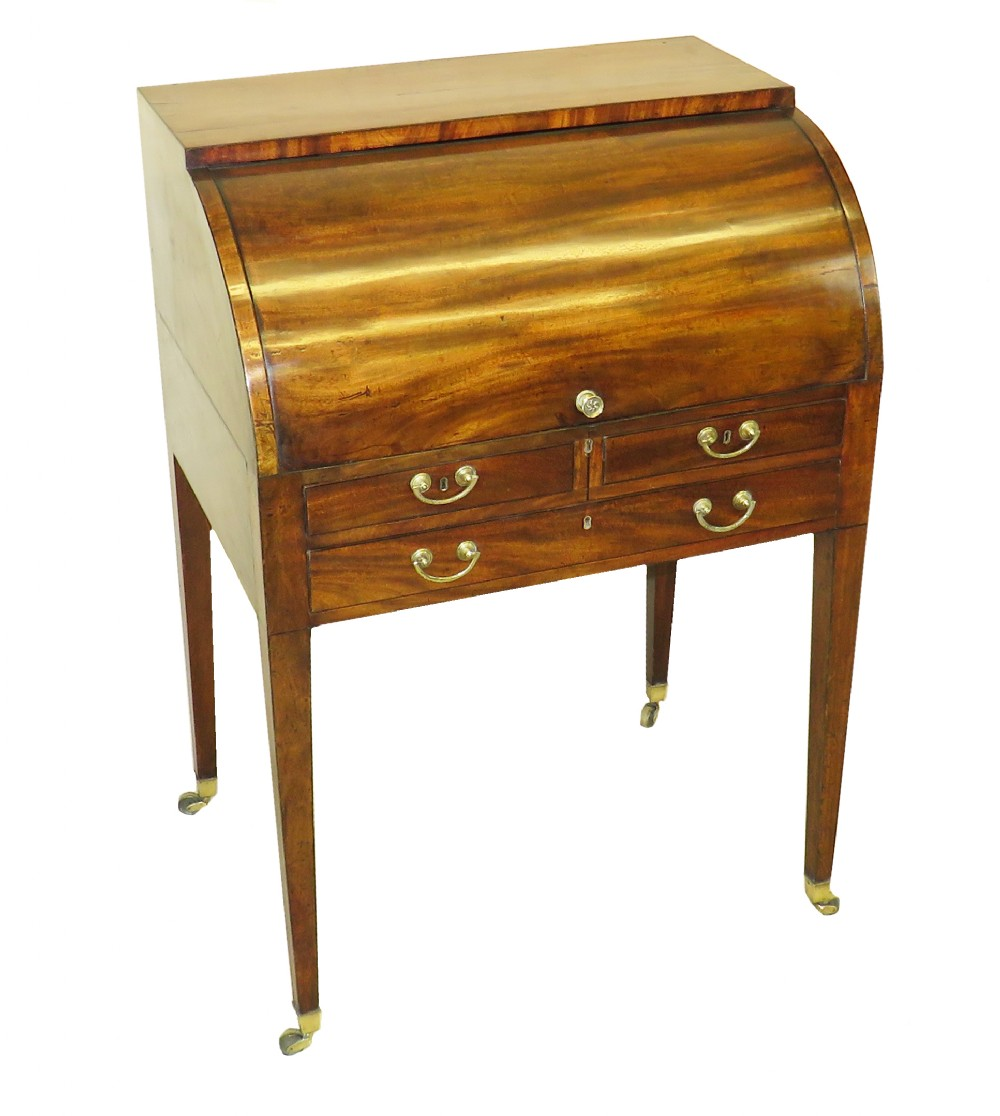 18th century georgian mahogany cylinder desk