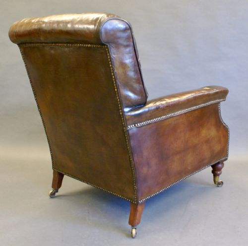 A Large Victorian Leather Reading Chair 466940